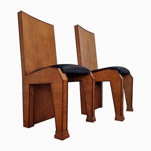Italian Art Deco Dining Chairs, Italy, 1930s, Set of 4