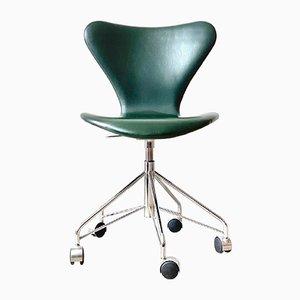 Sedia girevole modello 3117 Mid-Century di Arne Jacobsen per Fritz Hansen