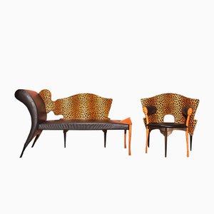 Prosim Sni Sofa & Papillon Prosim Sedni Armchair by Borek Sipek for Driade, 1987, Set of 2