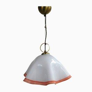 Lampe à Suspension en Verre, 1970s