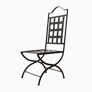 Mid-Century English Metal Garden Dining Chairs, Set of 6