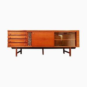 Zebrano & Ceramic Sideboard by Pieter Debruyne