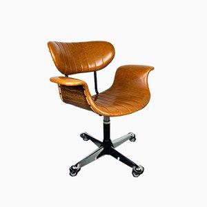 Chaise de Bureau Pivotante Mid-Century par Gastone Rinaldi pour Rima, Italie, 1970s