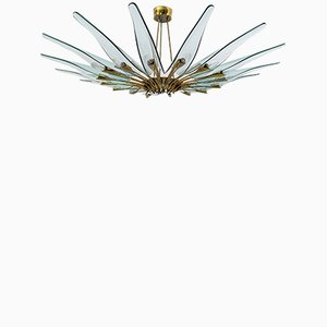 Mid-Century Modern Dahlia Pendant by Max Ingrand for Fontana Arte, Italy, 1950s