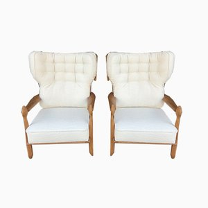 Lounge Chairs by Guillerme et Chambron for Votre Maison, 1950s, Set of 2