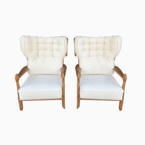 Sessel von Guillerme et Chambron für Votre Maison, 1950er, 2er Set