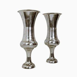 Cast Aluminium Vases, Set of 2