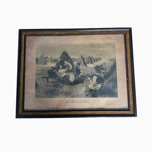 Harvest Photo Frame on Cardboard, 1920s
