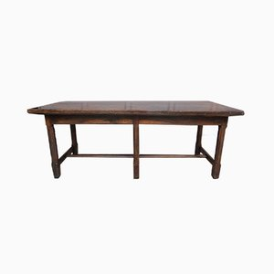 French Refectory Table in Oak, 18th-Century