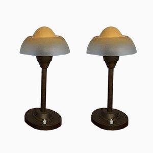 Lampes de Bureau Oeuf au Plat de Fog & Mørup, 1940s, Set de 2