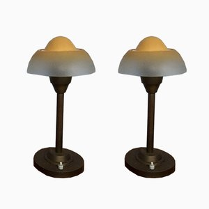 Spiegelei Tischlampen von Fog & Mørup, 1940er, 2er Set