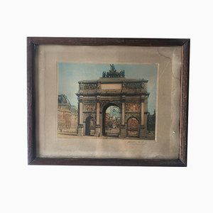 Lithograph, Photo Framed on Cardboard, 1920s