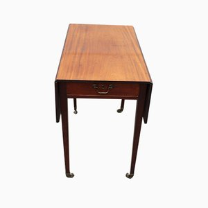 Mahogany Drop Leaf Table with One Drawer, 1920s
