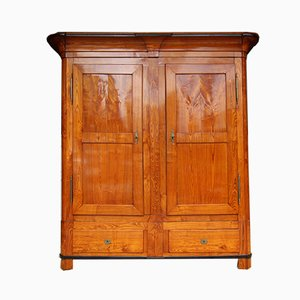 Armadio Biedermeier in legno di frassino, XIX secolo