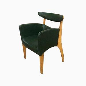 Skandinavische Stühle aus Buchenholz & Grünem Leder, 1960er, 8er Set