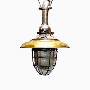 Lampe Industrielle Scandinave Vintage en Laiton, 1960s