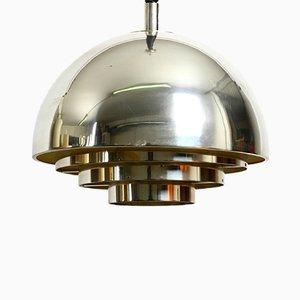 Lampada da soffitto Mid-Century placcata in argento di Vereinigte Werkstätten Collection