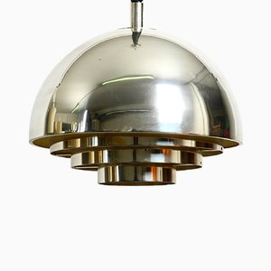 Mid-Century Silver-Plated Ceiling Lamp from Vereinigte Werkstätten Collection