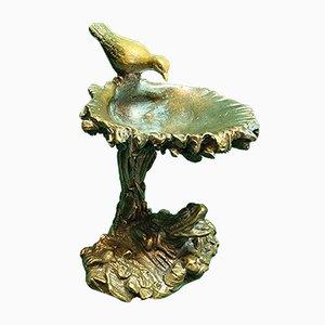 Vogel & Frosch Tablett aus Bronze, 1900er