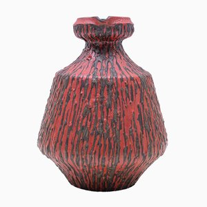 Große Deutsche Fat Lava Vase von Ceramano, 1970er