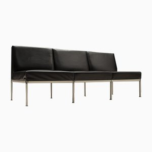 3-Seater Leather Sofa from Lübke, 1960s