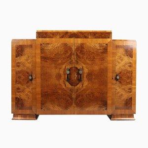 Art Deco Walnuss Sideboard