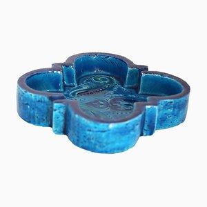 Cendrier en Céramique Émaillée Bleu Rimini par Aldo Londi pour Bitossi, 1960s