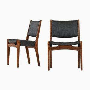 Esszimmerstühle von Hans Wegner für Johannes Hansen, Dänemark, 4er Set
