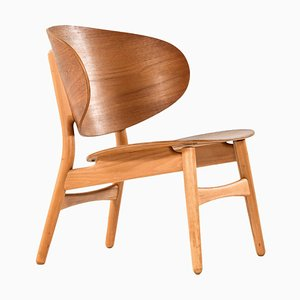 Model 1936 Shell Easy Chair by Hans Wegner for Fritz Hansen, Denmark