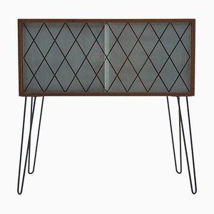 Glass & Teak Cabinet, Denmark, 1960s