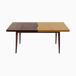 Wooden Coffee Table with Gloss Finish, Czechoslovakia, 1960s