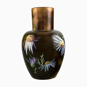 Antique Vase in Glazed Ceramics by Clément Massier for Golfe Juan, Late 19th-Century