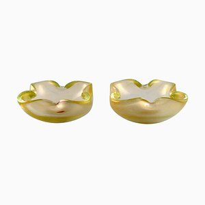 Murano Bowls in Mouth Blown Art Glass, Italy, 1960s, Set of 2
