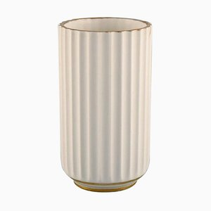 Porcelain Vase with Gold Decoration from Lyngby, 1936