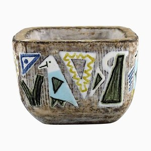 Kleine Vase oder Schale aus Steingut von Mari Simmulson für Upsala-Ekeby