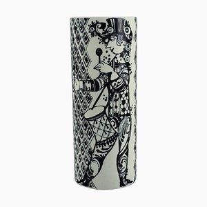 Vase aus Glasierter Fayence von Bjorn Wiinblad für Nymølle, 1970er