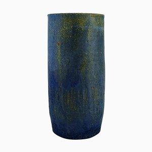 Vase aus Glasiertem Steingut von Yngve Blixt für Höganäs