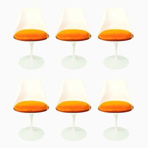 Early Edition Tulip chairs by Eero Saarinen for Knoll International, 1968, Set of 6