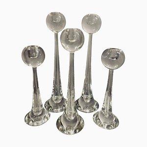 Toso Kerzenständer aus Muranoglas von Cenedese, 5er Set