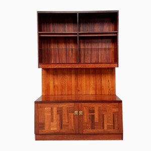 Mid-Century Rosewood Media Wall Shelving Unit by Nils Jonsson for Troeds