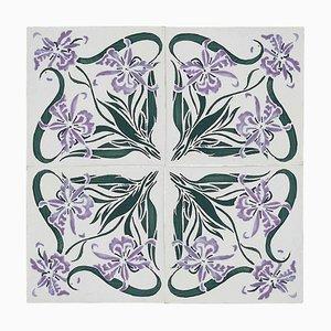 Art Nouveau Wall Tile from Devres, France, 1920s