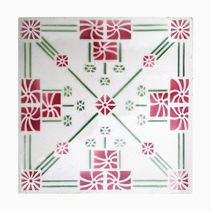 Antique Art Deco Tile, 1930s