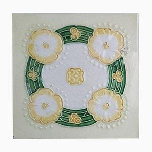 Art Nouveau Relief Tile from Nv De Dijle, 1930s