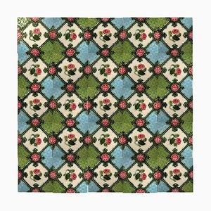 Glazed Relief Tile from S. A. Produits Ceramiques De La Dyle, 1930s