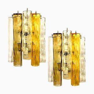 Appliques Murales Extra Large en Verre de Murano de Barovier & Toso, Set de 2