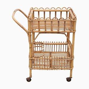 Bamboo Bar-Cart, 1950s, Italy