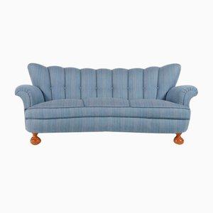 Scandinavian Curved Sofa, 1940s, Sweden
