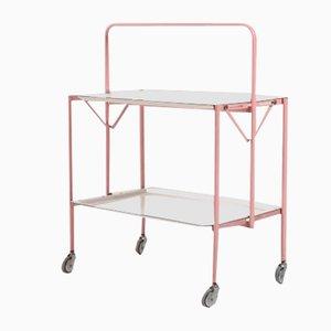 Italian Modern Foldable Pink Bar Cart from Speedy, 1960s