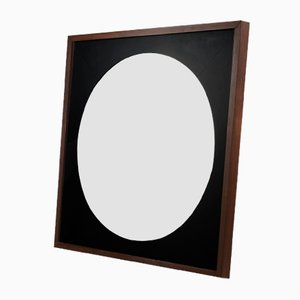 Round Mirror with Square Frame, 1970s
