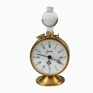 Goldene Vintage Metall Uhr von Jaccard